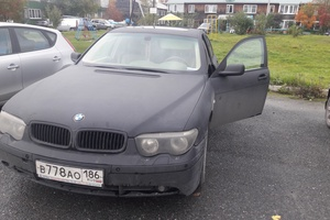 Подержанный автомобиль BMW 7 серия, хорошее состояние, 2003 года выпуска, цена 200 000 руб., Ханты-Мансийск