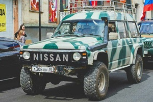 Автомобиль Nissan Safari, среднее состояние, 1992 года выпуска, цена 550 000 руб., Ангарск