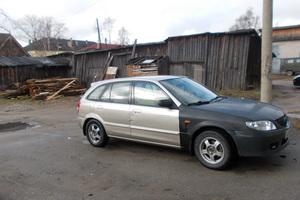 Автомобиль Mazda 323, битый состояние, 2002 года выпуска, цена 130 000 руб., Беломорск