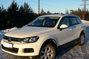 Подержанный автомобиль Volkswagen Touareg, отличное состояние, 2012 года выпуска, цена 1 450 000 руб., Казань