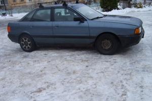 Автомобиль Audi 80, хорошее состояние, 1989 года выпуска, цена 73 000 руб., Псков