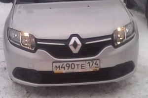 Подержанный автомобиль Renault Logan, отличное состояние, 2015 года выпуска, цена 550 000 руб., Челябинск