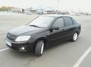 Подержанный ВАЗ (Lada) Granta, черный металлик, цена 239 999 руб. в республике Татарстане, отличное состояние