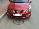 Подержанный Hyundai Solaris, бордовый , цена 750 000 руб. в ао. Ханты-Мансийском Автономном округе - Югре, отличное состояние