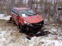 Подержанный Kia Sportage, оранжевый , цена 300 000 руб. в ао. Ханты-Мансийском Автономном округе - Югре, битый состояние