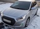 Подержанный Hyundai Solaris, серебряный металлик, цена 460 000 руб. в Челябинской области, хорошее состояние