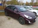 Подержанный Hyundai Solaris, пурпурный металлик, цена 650 000 руб. в ао. Ханты-Мансийском Автономном округе - Югре, отличное состояние