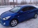 Подержанный Hyundai Solaris, синий металлик, цена 505 000 руб. в Челябинской области, отличное состояние