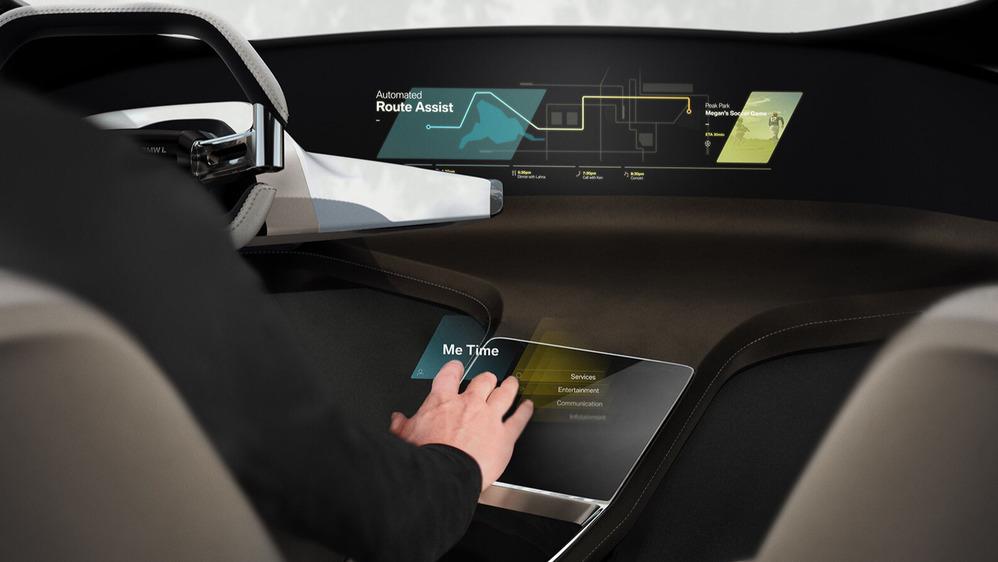Вкомпании БМВ разработали виртуальный тачскрин