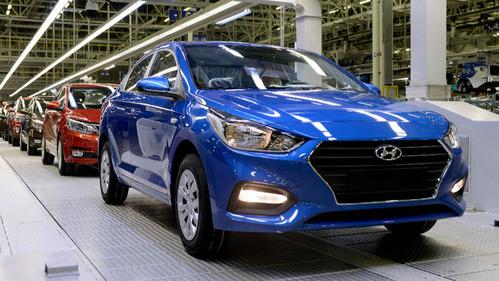 В Питере стартовало производство нового Hyundai Solaris.