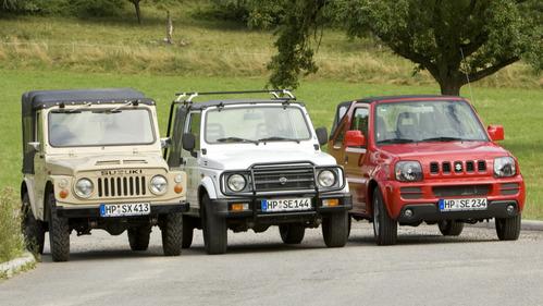 все поколения Suzuki Jimny