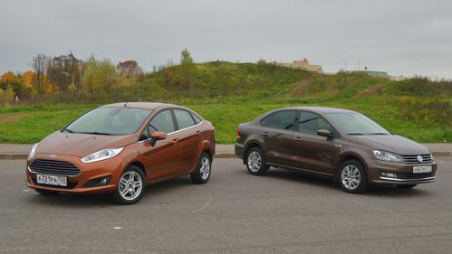 Сравнительный тест-драйв седанов Volkswagen Polo и Ford Fiesta от Am.ru