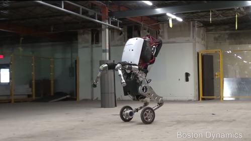 Американцы показали в действии робота-роллера.