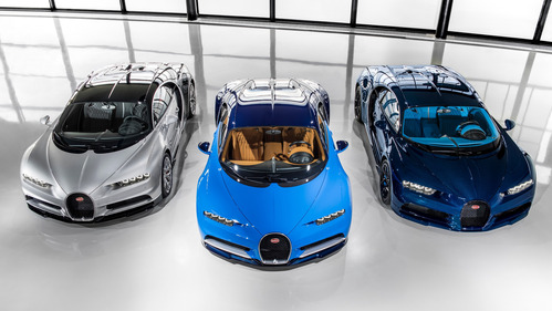 Bugatti построил 3 экземлпяра Chiron и распродал половину тиража – смотреть видео на Am.ru