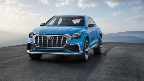 Практически такой же Audi Q8 должен выйти на рынок в следующем году.