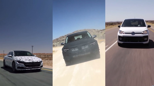 Три грядущих дебютанта VW на тестах в Южной Африке.