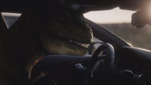 Технологии Audi не дали умереть динозавру от депрессии..