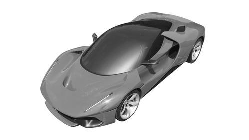 Ferrari запатентовала новый суперкар.