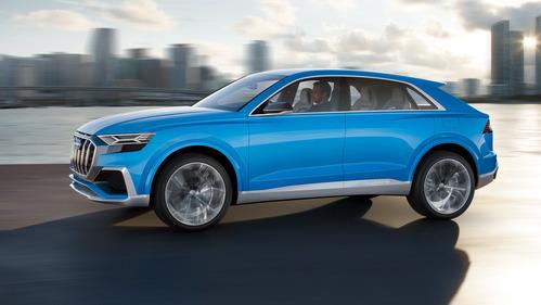 Галерея нового кроссовера  Audi Q8.