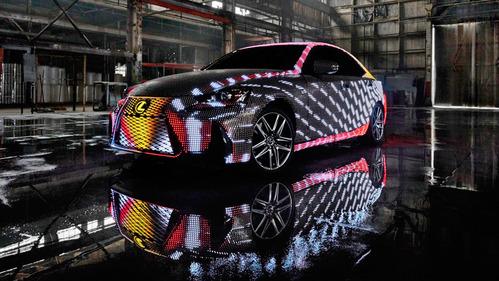 Lexus создал седан IS с кузовом, покрытым светодиодами – смотреть видео на Am.ru