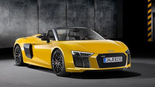 Audi R8 Spyder V10 впервые показали на автосалоне в Нью-Йорке.Новости am.ru