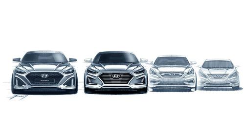 Обнародованы эскизы обновлённого Hyundai Sonata.