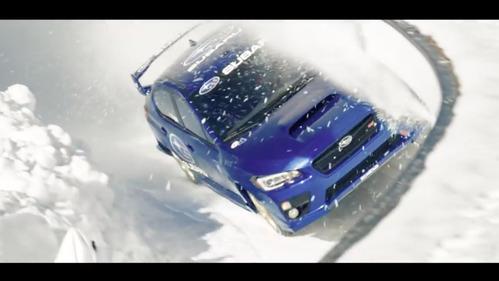 Раллийный гонщик и каскадёр промчал по трассе для бобслея на Subaru WRX STI.