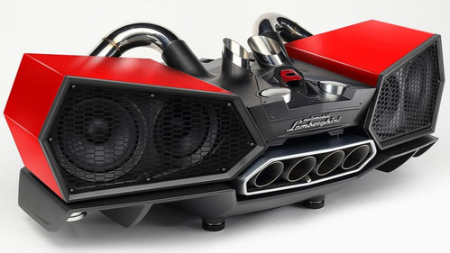 Аудиосистема из деталей кузова и выхлопа Lamborghini Aventador – смотреть видео на Am.ru