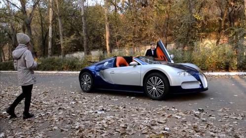 Невероятное видео с Bugatti Veyron для детей.