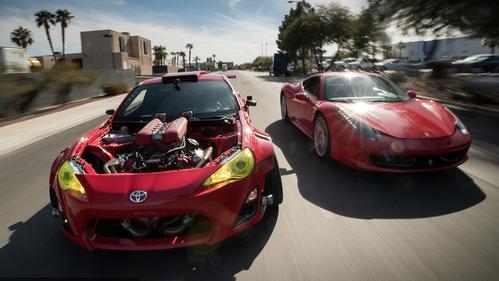 Toyota GT86 с мотором от Ferrari покрутила пончики вокруг Ferrari – смотреть видео на Am.ru