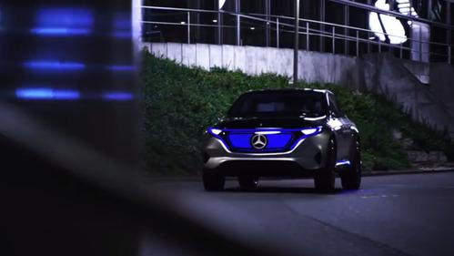 Новый электрический концепт-кар Mercedes-Benz Generation EQ во всей красе.