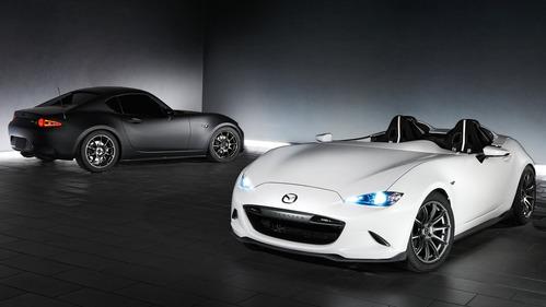 Официальные фотографии Mazda MX-5 Speedster Evolution и MX-5 RF Kuro - смотреть фото на Am.ru.