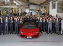 Компания Lamborghini выпустила юбилейный пятитысячный суперкар Aventador