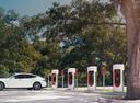 Tesla введёт штраф за парковку возле станций экспресс-зарядки.Новости Am.ru