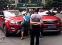 Китайсикй клон Range Rover Evoque Landwind X7 столкнулся с оригиналом.Новости Am.ru