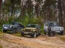 Фотографии теста Land Rover Defender 110 «Русские Витязи», Jeep Wrangler Unlimited Sahara и Mercedes-Benz G350d – смотреть фото на Am.ru